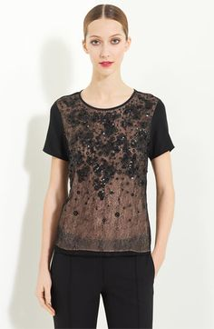 Jason Wu Embroidered Silk Jersey Tee   Nordstrom
