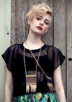 Cropped T shirt - Black Mesh