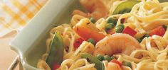 Shrimp and linguine for a table for four? It will be ready in 30 minutes.