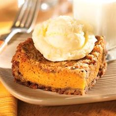 Deep Dish Pumpkin Pie- best dessert ever!