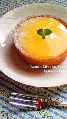 レモンカードとクリームチーズのタルト   *Tart with Lemon Curd & Cream Cheese