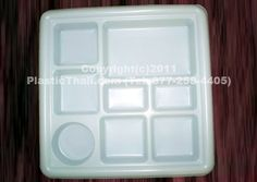 Eight Compartment Disposable Plastic Plate & Seven Compartment Disposable Plastic Plate or Thali - 50 Plates by ...