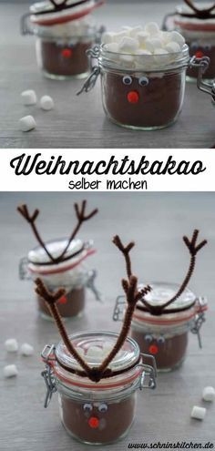 Kakao, Gourmet Recipes, Presents, Clay, Christmas Ornaments, Handmade Christmas, Diy Christmas, Hot Chocolate, Chocolate Gifts