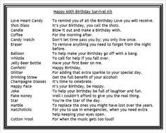 60THBIRTHDAYSURVIVALKITNOVELTYGIFTCARDMALE Birthday