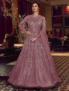 Top 5 Trendy Anarkali Suits Design for Any Occasion - Inddus.com Robe Anarkali, Costumes Anarkali, Anarkali Suits, Indian Anarkali, Lehenga Gown, Abaya Style, Designer Anarkali Dresses, Designer Dresses, Mauve