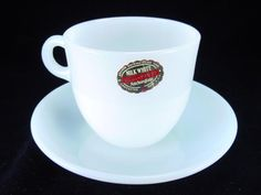 Fire King 1700 Line Milk White St. Denis Cup & Saucer