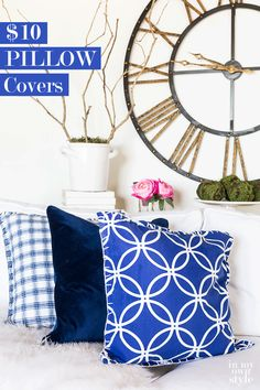 How to make inexpensive pillows and pillow covers that are practically made for you. Easy and super budget friendly home decorating DIY