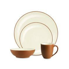 Noritake® Colorwave Coupe 4-Piece Place Setting in Terra Cotta - BedBathandBeyond.com