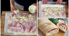Pan relleno de jamón y queso: un entrante que te abrirá el apetito Mozzarella, Pan Relleno, Canapes, Sandwiches, Food And Drink, Ethnic Recipes, Yummy Yummy, Breads, Ham And Cheese