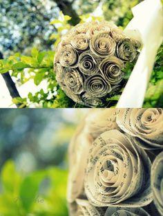 Pomander made of paper spiral rosettes