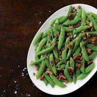 Brown-Buttered Sugar Snap Peas with Pecans First Line Therapy Servings: 1 1/4 Category 1 Vegetables, 1 Nut & Seed, 1 Oil