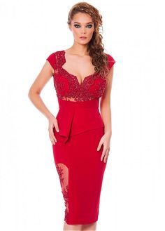 2015 Sexy Red Short Cocktail Dresses With Lace Appliques and Beading  Vestidos De Festa Robe Cocktail 2015 China Shop Online