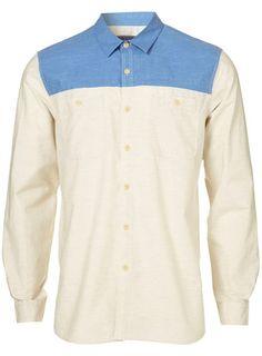 Ecru Sports Marl Cotton Shirt -- Topman        Price: