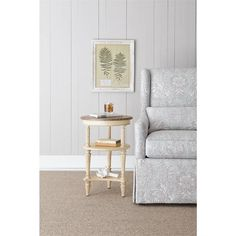 European Cottage - Martini Table in Vintage White - 007-25-16 - end table - living room - Stanley Furniture
