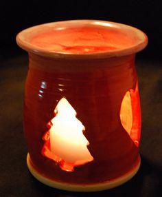 christmas votive pottery candle holder ceramic candle holders ceramic light ceramics projects clay