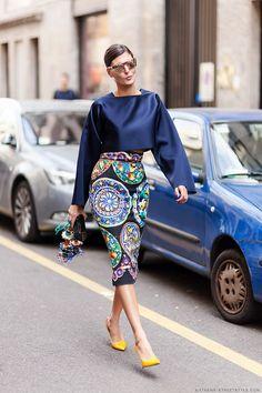 Giovanna Battaglia   MFW Spring-Summer 2015 Street Style