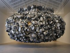 From Far Away Uncle Moon Calls | Subodh Gupta sculpture at Hauser and Wirth, Somerset, UK -by wild goose chase