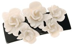 L Erickson Giverny Rose Barrette  BlackCreme -- Read more reviews of the product by visiting the link on the image.(This is an Amazon affiliate link and I receive a commission for the sales)