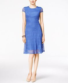 Alfani Lace A-Line Dress, Only at Macy's - Dresses - Women - Macy's
