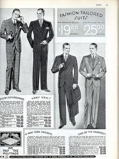 Mens 1930's fashion