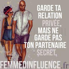 « Garde ta relation privée, mais ne garde pas ton partenaire secret. » #citation #amour #love #amoureuse