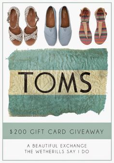 $200 Toms Giveaway