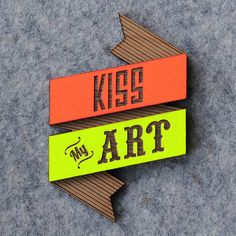 Kiss My Art Brooch by bRainbowshop on Etsy, $38.00
