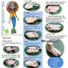 Амигуруми. Куколка Модница крючком (6)