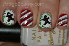 Christmas nail art - Love the gingerbread men