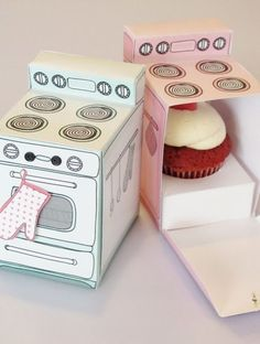 cuteness...oven cupcake boxes would be perf for bridal shower
