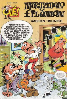 Mortadelo y Filemon - Mision Triunfo Comic Art, Comic Books, Magazines For Kids, Sweet Memories, Dark Horse, Humor, Comic Covers, Nostalgia, Animation
