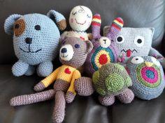 Desde o tempo da vovó...: Minhas crias - Brinquedos feitos em Crochê