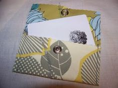 Gift card holder - This is so simple and yet looks terrific in this fabric. Great job!