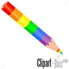 CLIPART RAINBOW COLOR PENCIL