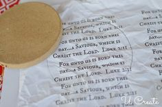 Nativity Ornament Tutorial {free printable, too}   U Create