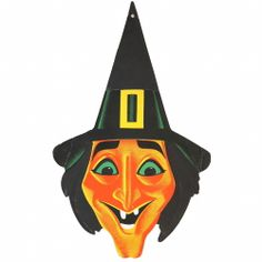 Vintage Holiday, Vintage Halloween, Halloween Kids, Halloween Crafts, Witch Face, Vintage Witch, Hallows Eve, Cover Art, Batman