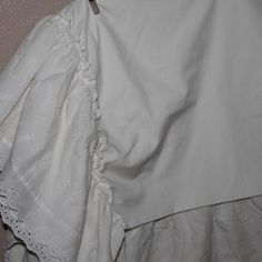 Lace eyelet crib skirt
