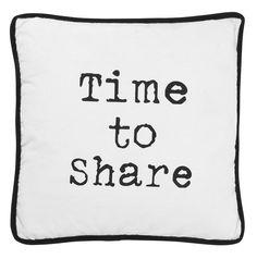 Sierkussen Roscoe: Time to share kussen, goed te combineren met andere kussens van het #HomeLabel