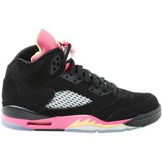 Pre-owned Nike Jordan Trainers ($118) ❤ liked on Polyvore featuring shoes, sneakers, black, kohl shoes, nike footwear, black trainers, pre owned shoes and black sneakers