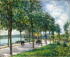 Alfred Sisley (París, 1839 - Moret-sur-Loing, 1899) La alameda de los castaños, Sèvres / Allée of Chestnut Trees, Sèvres  (1878)