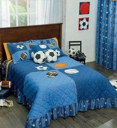 Blue Kids and Teens Bedding Sets Boys Bedspreads, Teen Bedding Sets, Baby Decor, Bed Covers, Bed Spreads, Baby Quilts, Bed Sheets, Kids Bedroom, Decoration