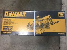 "Click to view larger image and other views DeWALT-DWS535-7-1-4-Worm-Drive-Circular-Saw-NEW  DeWALT-DWS535-7-1-4-Worm-Drive-Circular-Saw-NEW  DeWALT-DWS535-7-1-4-Worm-Drive-Circular-Saw-NEW Have one to sell? Sell now DeWALT DWS535 7-1/4"" Worm Drive Circular Saw NEW $159.95"