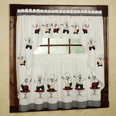 French Chef Kitchen Curtains