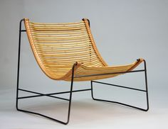 Bamboo Sling Chair by Miles Endo, via Behance