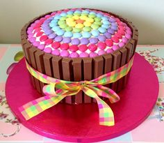 Smarties decorated cake!