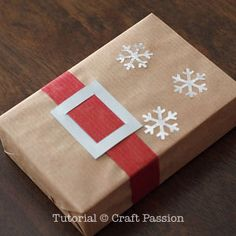 Make a Santa Belt Gift Wrap to personalize the gift packaging for the Christmas. Turn plain wrapping papers into festive packaging. - Page 2 of 2