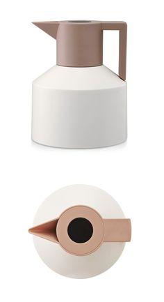 Geo Vacuum Flask White by  Nicholai Wiig Hansen