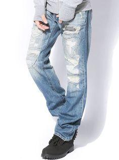 ブルー L (ジャックポート)JACK PORT ストレッチ ダメージ加工 リメイク ジーンズ メンズ デニムパンツ ヴィンテージ加工 ジーンズ ジーパン クラッシュデニムパンツ クラッシュジーンズ クラッシュデニム クラッシュパンツ ダメージジーンズ ダメージデニム ダメージパンツ ダメージデニムパンツ クラッシュ クラッシュ加工 ペイント ペンキ リペア リペア加工 パッチ パッチ加工 ダメージ デニム ひざ ニー スキニーデニム スキニージーンズ スキニーパンツ スキニー スリムデニム スリムジーンズ スリムパンツ スリム ブラック ヴィンテージ 破れ ひげ 男性 春 夏 秋 冬 JK818435006617