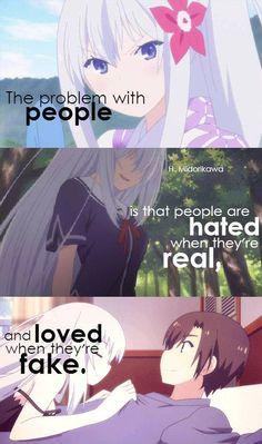 Idk what anime or manga this is help Sad Anime Quotes, Manga Quotes, Tsurezure Children, Dark Quotes, Les Sentiments, True Words, Infj, Anime Love, True Quotes
