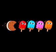 Summer Days are Packed with Treats - Threadless T-shirt submission #pac-man, #pac man, #threadless